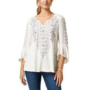 Style & Co Women's Plus Size Angel Sleeve Top